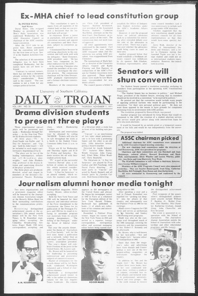 Daily Trojan, Vol. 64, No. 36, November 11, 1971
