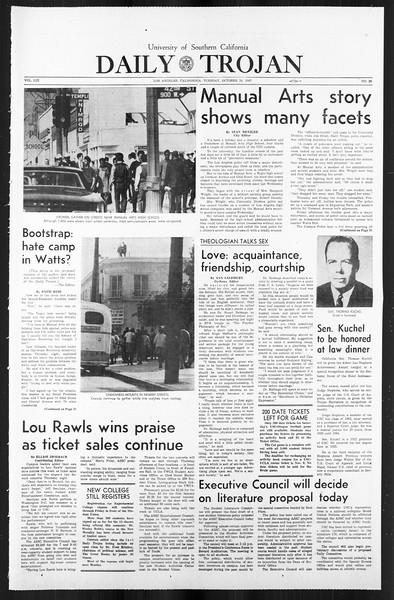 Daily Trojan, Vol. 59, No. 26, October 24, 1967