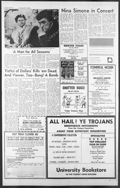 Daily Trojan, Vol. 58, No. 64, February 02, 1967