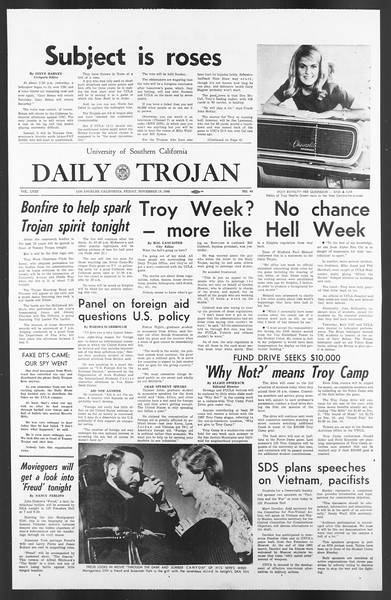 Daily Trojan, Vol. 58, No. 44, November 18, 1966