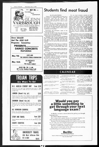 Daily Trojan, Vol. 60, No. 118, May 07, 1969
