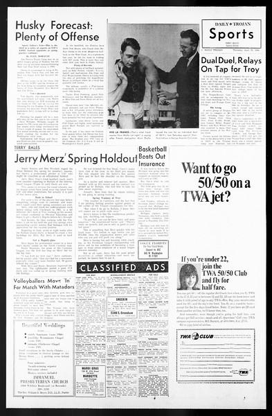 Daily Trojan, Vol. 57, No. 111, April 28, 1966
