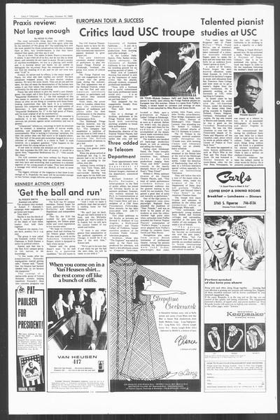 Daily Trojan, Vol. 60, No. 17, October 10, 1968