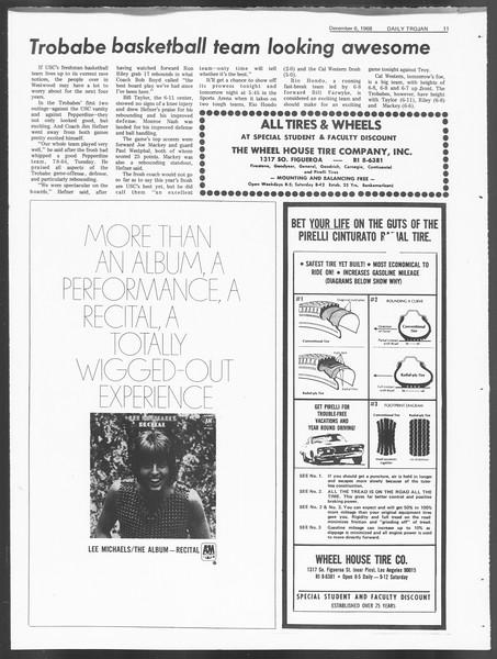 Daily Trojan, Vol. 60, No. 52, December 06, 1968