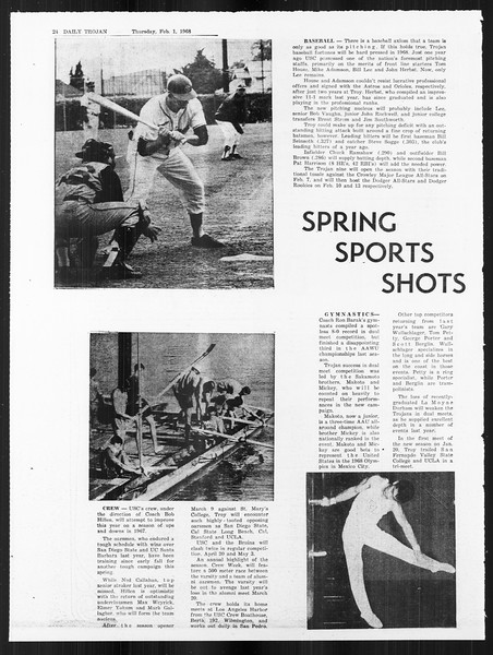 Daily Trojan, Vol. 59, No. 63, February 01, 1968