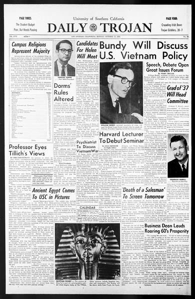 Daily Trojan, Vol. 57, No. 26, October 25, 1965