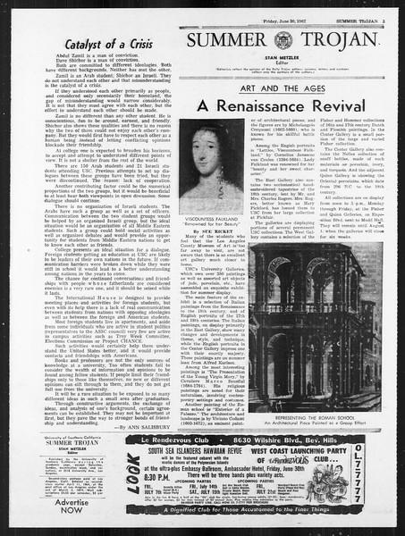 Summer Trojan, Vol. 18, No. 4, June 30, 1967