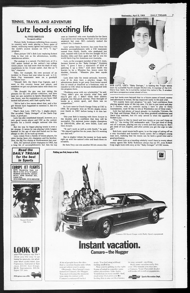 Daily Trojan, Vol. 60, No. 101, April 09, 1969