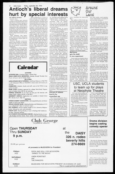 Daily Trojan, Vol. 65, No. 5, September 22, 1972