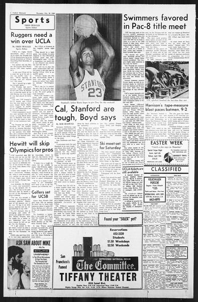 Daily Trojan, Vol. 59, No. 81, February 29, 1968