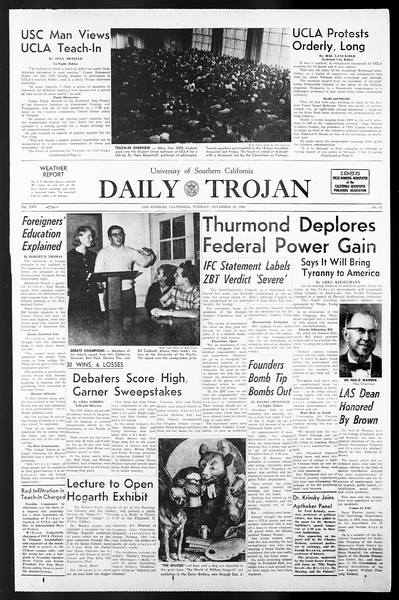 Daily Trojan, Vol. 57, No. 41, November 16, 1965
