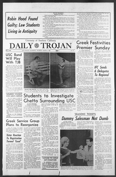 Daily Trojan, Vol. 58, No. 81, March 02, 1967