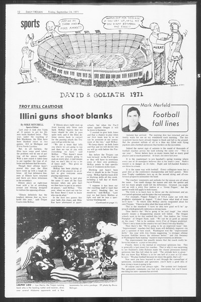Daily Trojan, Vol. 64, No. 5, September 24, 1971