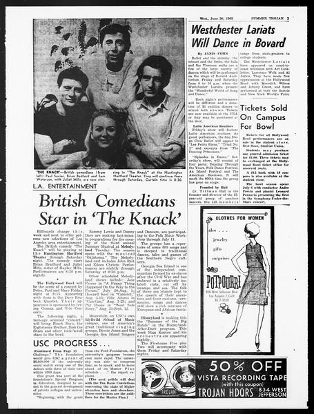 Summer Trojan, Vol. 15, No. 4, June 30, 1965