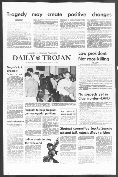 Daily Trojan, Vol. 60, No. 55, December 12, 1968