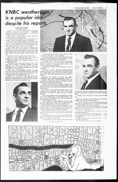 Daily Trojan, Vol. 60, No. 84, March 06, 1969
