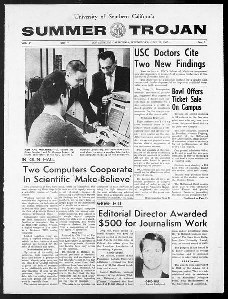 Summer Trojan, Vol. 15, No. 2, June 23, 1965