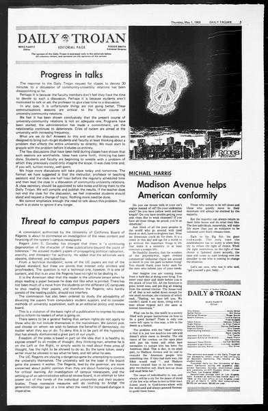 Daily Trojan, Vol. 60, No. 114, May 01, 1969