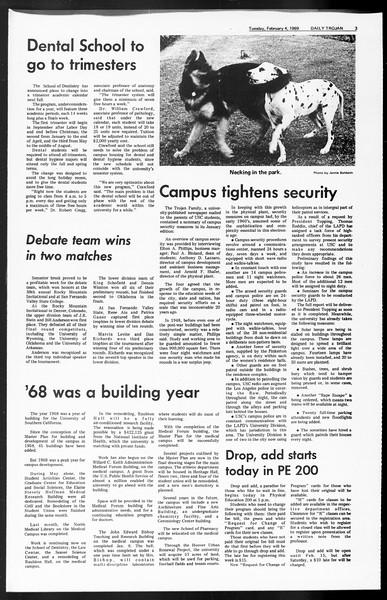 Daily Trojan, Vol. 60, No. 63, February 04, 1969