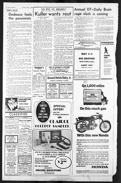 Daily Trojan, Vol. 59, No. 117, May 02, 1968