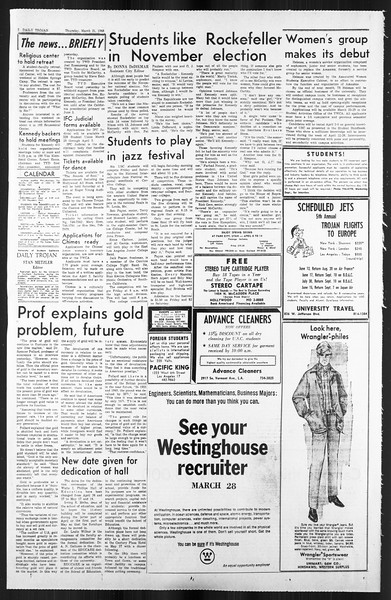 Daily Trojan, Vol. 59, No. 95, March 21, 1968