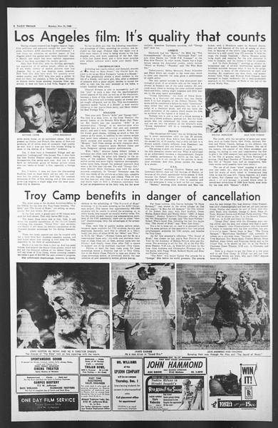 Daily Trojan, Vol. 58, No. 45, November 21, 1966