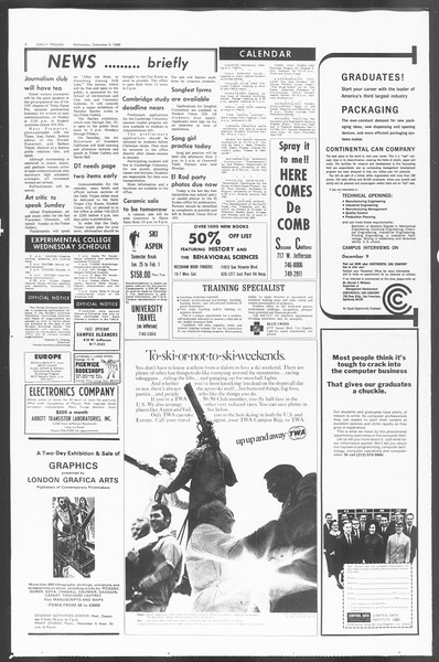 Daily Trojan, Vol. 60, No. 50, December 04, 1968