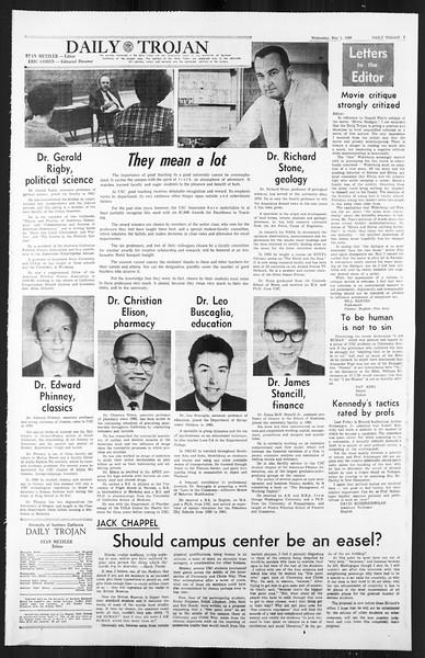 Daily Trojan, Vol. 59, No. 116, May 01, 1968