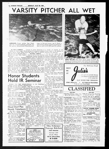Summer Trojan, Vol. 15, No. 10, July 26, 1965