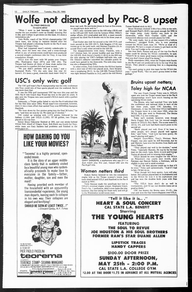 Daily Trojan, Vol. 60, No. 121, May 20, 1969