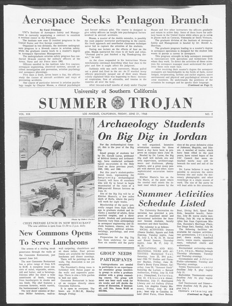 Summer Trojan, Vol. 19, No. 2, June 21, 1968