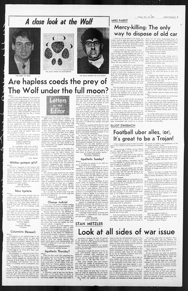 Daily Trojan, Vol. 59, No. 38, November 10, 1967