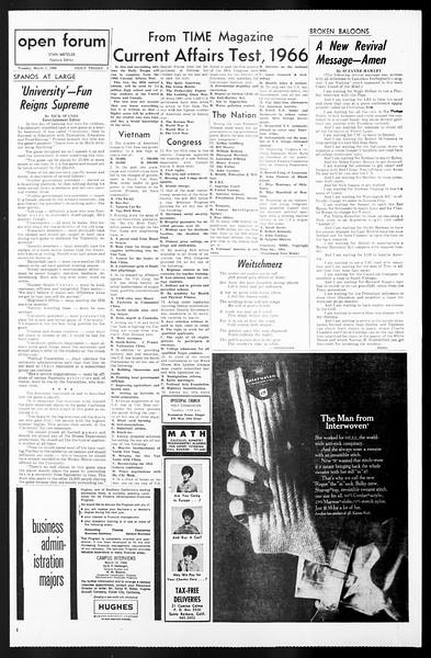 Daily Trojan, Vol. 57, No. 78, March 01, 1966