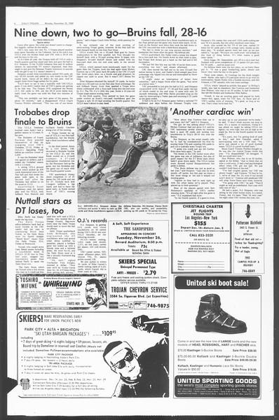 Daily Trojan, Vol. 60, No. 46, November 25, 1968