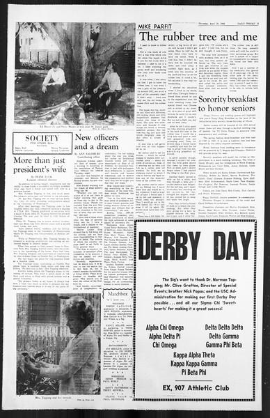 Daily Trojan, Vol. 59, No. 112, April 25, 1968