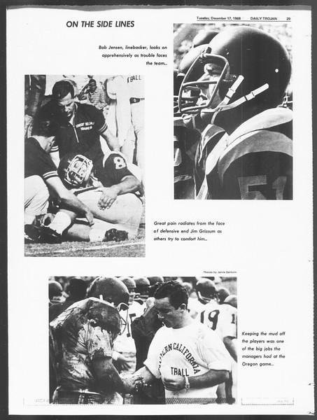 Daily Trojan, Vol. 60, No. 57, December 17, 1968