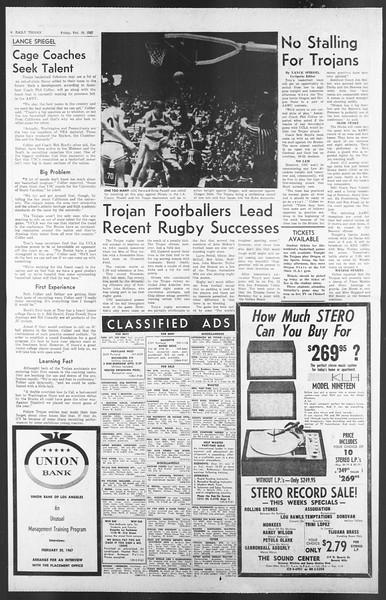 Daily Trojan, Vol. 58, No. 68, February 10, 1967