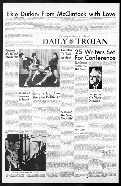 Daily Trojan, Vol. 57, No. 116, May 06, 1966