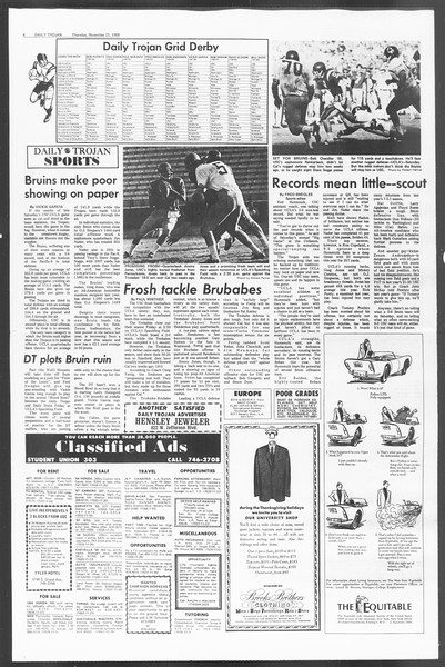 Daily Trojan, Vol. 60, No. 44, November 21, 1968