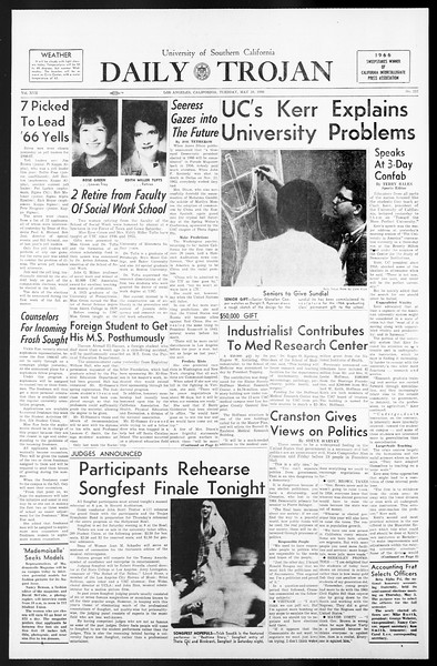 Daily Trojan, Vol. 57, No. 117, May 10, 1966