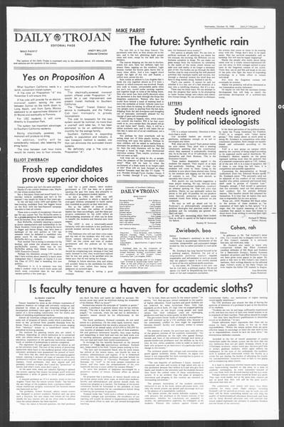 Daily Trojan, Vol. 60, No. 20, October 16, 1968