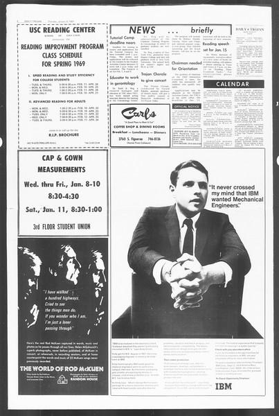 Daily Trojan, Vol. 60, No. 60, January 09, 1969