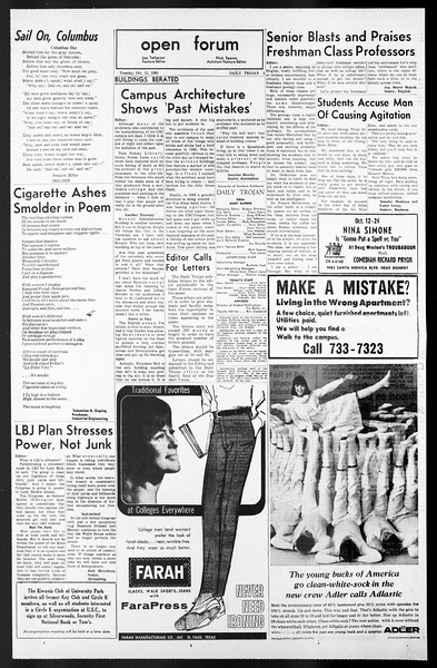 Daily Trojan, Vol. 57, No. 17, October 12, 1965