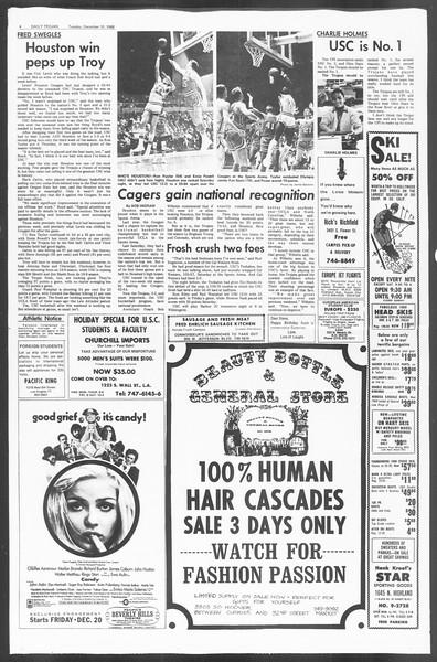 Daily Trojan, Vol. 60, No. 53, December 10, 1968