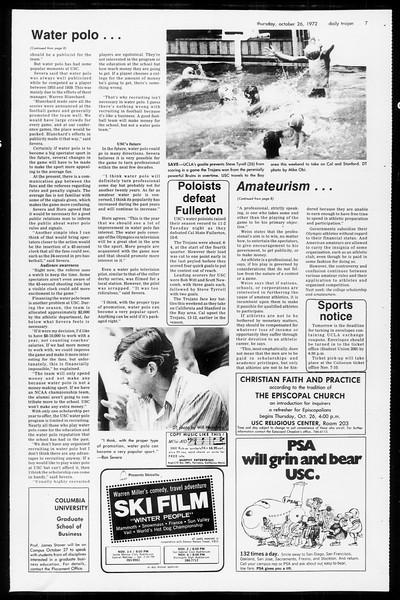 Daily Trojan, Vol. 65, No. 26, October 26, 1972