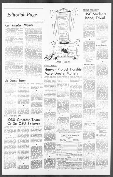Daily Trojan, Vol. 56, No. 51, December 08, 1964