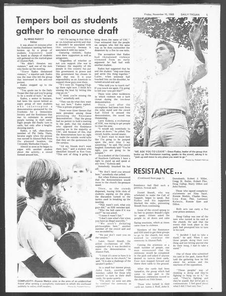 Daily Trojan, Vol. 60, No. 40, November 15, 1968