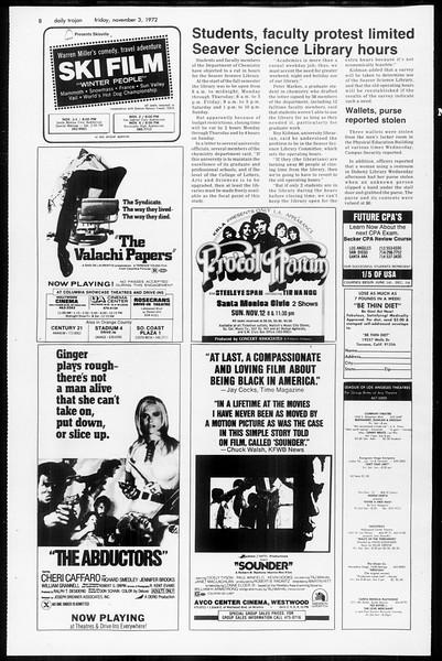 Daily Trojan, Vol. 65, No. 32, November 03, 1972