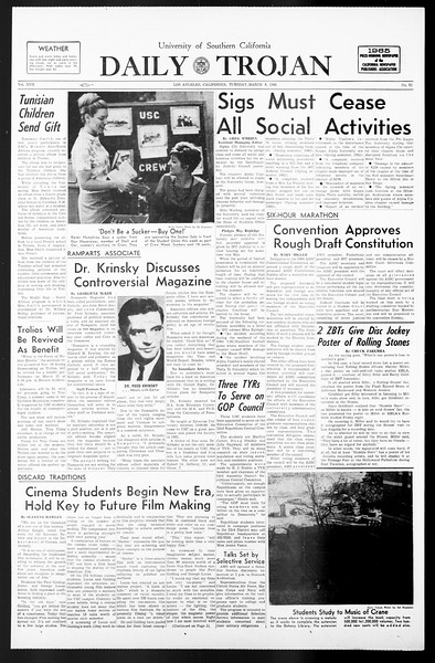 Daily Trojan, Vol. 57, No. 83, March 08, 1966
