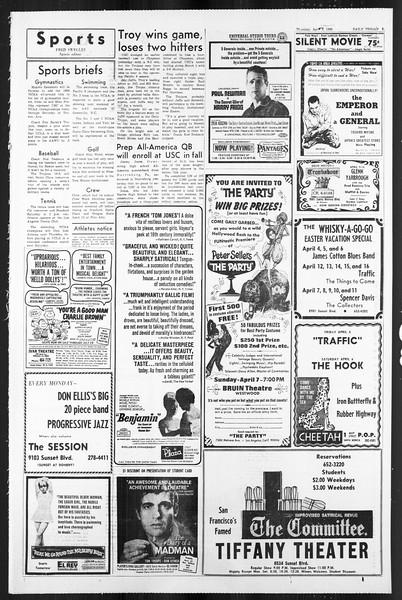 Daily Trojan, Vol. 59, No. 104, April 04, 1968